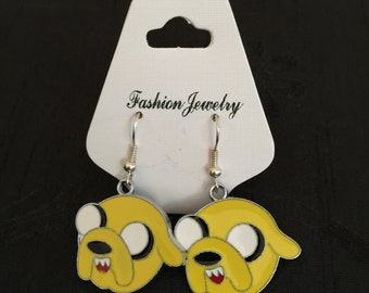 Silver Plated Adventure Time Jake The Dog Earrings
