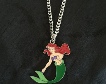 Silver Plated Disney Princess Little Mermaid Ariel Necklace