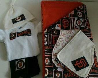 SF Giants Baby Gift Set