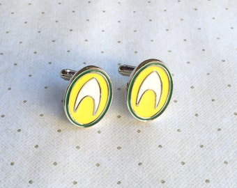 Aquaman Cufflinks Cuff Links in Silver