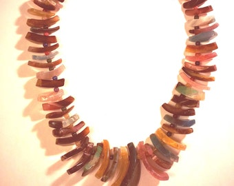 Multi-colored Glass Bead Necklace