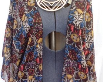 Sheer kimono jacket.