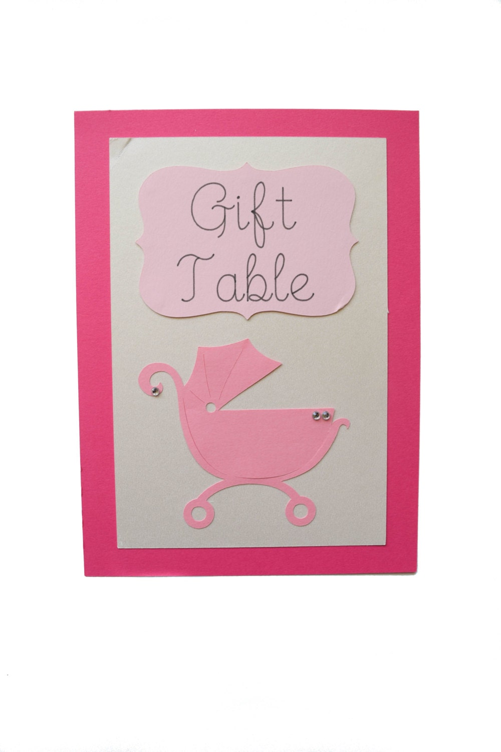 baby shower table sign gift table with baby