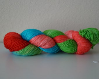 It's Silly, But I Believe on 75/25 Sock – Hand Dyed Yarn