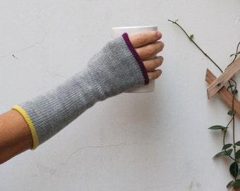Mittens, gloves, Knit fingerless glove, Fingerless gloves mittens, Long fingerless glove, Multycolored fingerless arm warmer