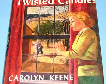 Nancy Drew #9 Sign of Twisted Candles Orig Text DJ