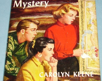 Nancy Drew #32 Scarlet Slipper Mystery Orig Text DJ