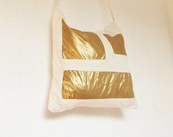 """Futuristic shoulder bag """"lacquer""""-futuristic handbag, handbag, purist, festival bag, 90s, glossy, white, glamour, squares"""