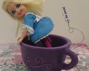 Alice in Tea Cup OOAK art doll