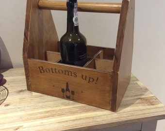 Vintage style wine crate/carrier