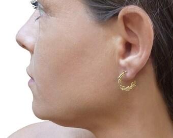 solid gold hoop earrings, 14k gold earrings, hoops earrings, 14k solid gold earrings, 14k yellow gold earrings