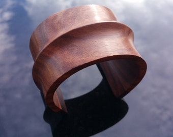 Carved Wood Cuff Bracelet
