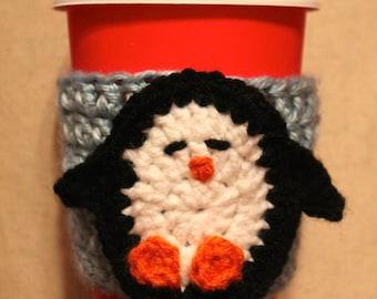 Custom Penguin Coffee Cozy