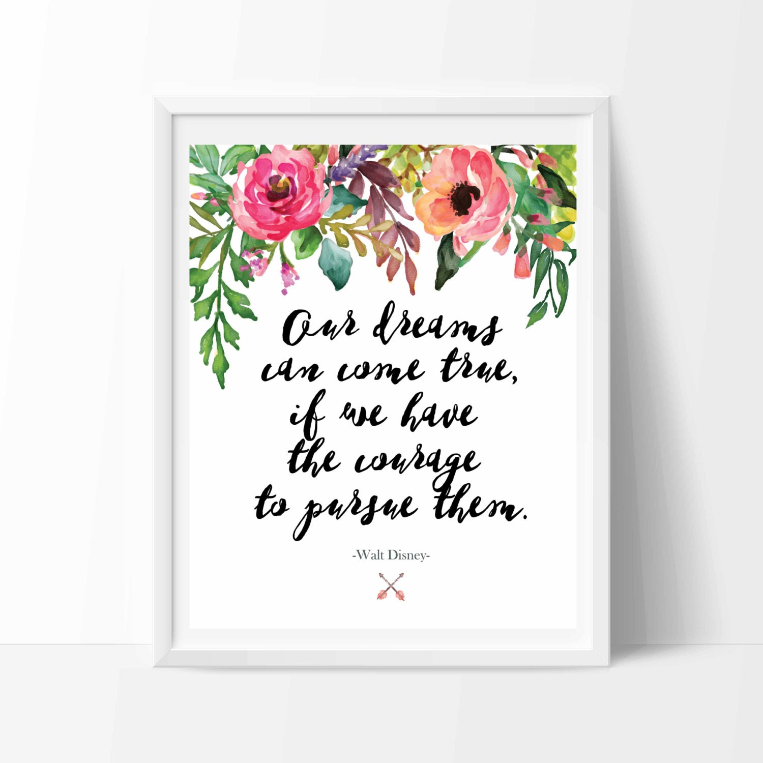 Wall Art Quotes Disney : Disney quote print printable wall art decor