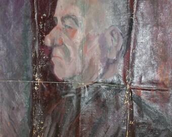 Male portrait antique oil painting