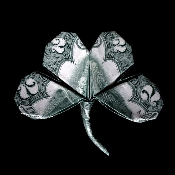 Money Origami LUCKY Four-Leaf Volume CLOVER Real by ... - photo#41