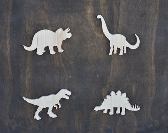 Wood Dinosaur Cutouts