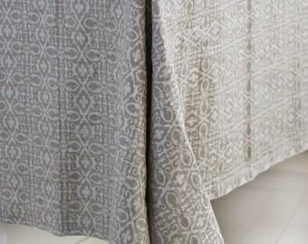 Linen Tablecloth, Natural Linen Table Cloth, Jacquard Linen Tablecloth,  Square Tablecloth, Rectangle