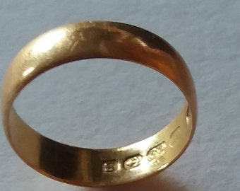 Victorian 1867 22 kt Gold Wedding Ring
