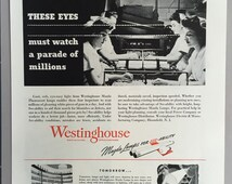 1944 Westinghouse Mazda Fluorescent Lamps Print Ad - Lighting - WWII Era