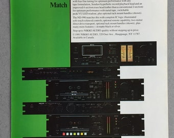 1981 Nikko Audio Print Ad - ND-990 - ND790 - Stereo - Cassette Deck