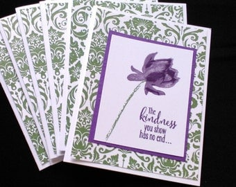 Set of 6 Note cards/Tulip