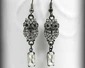 Sparkly Owl Handmade Earrings, Jewelry Handmade, Artisan Jewelry, Dangle Owl Earrings, ButterflyLoftDesigns