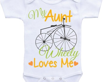 My Aunt Loves Me Onesie,I love my Aunt baby shirt,Aunt Onesie,Auntie Shirt,Aunt shirt for baby girl or baby boy aunt baby clothes,aunt to be