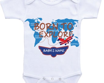 Airplane Onesie Personalized Onesie Babyshower gift newborn take home outfit baby boy coming home outfit newborn clothing,newborn gift