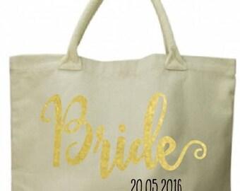 Custom wedding bag, tote, brides bag, bridal bag, bridesmaid bags, bridesmaid totes, customised bride