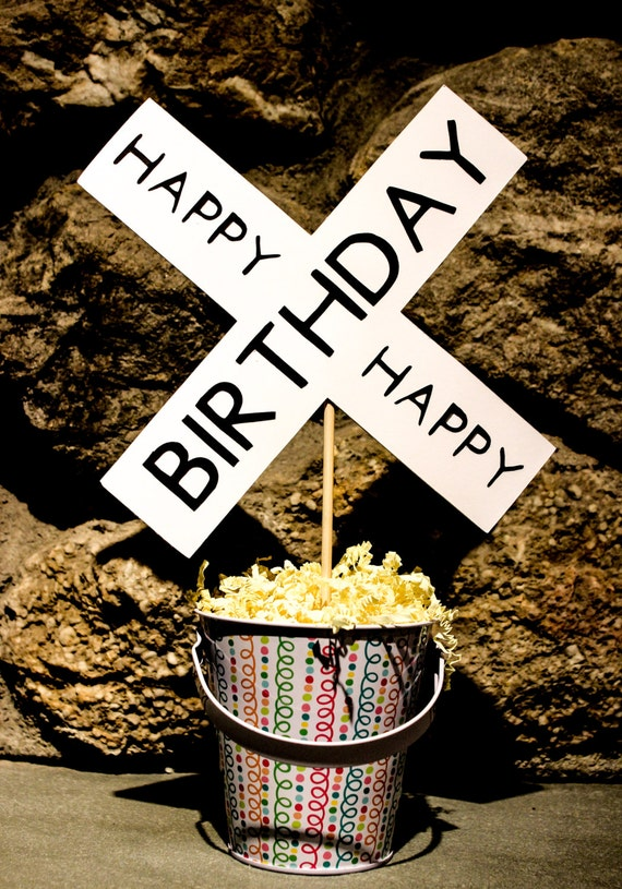Happy Birthday Rail Road Theme by SwankCrafter on Etsy