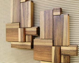 wood wall art modern wood art wooden art wood wall decoration wood