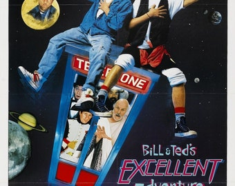 Bill & Ted's Excellent Adventure (1989) Movie Poster Cult Classic