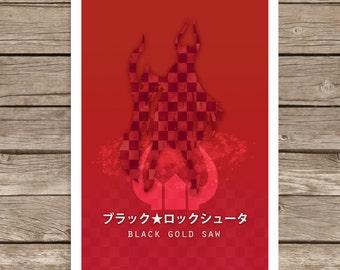 Black Rock Shooter: Black Gold Saw Print