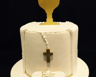 Chalice Cake Topper with a cross