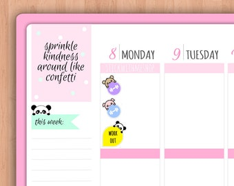 Peek-A-Boo Workout Dots PLANNER STICKERS (SWM28)