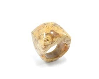 Size  6.75 Jasper Ring