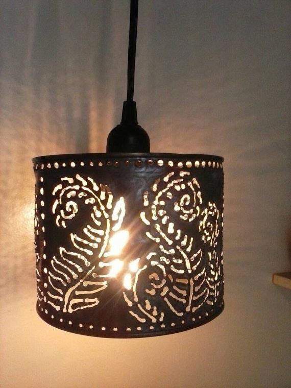 Pendant lamp metal lighting farmhouseboho lightingfern like this item aloadofball Gallery