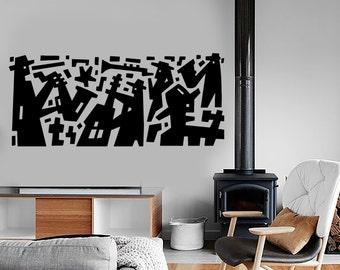 Wall Decal Music Jazz Band Modern Art Vinyl Sticker Mural Art 1590dz