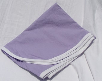 Cotton Receiving Blanket Purple