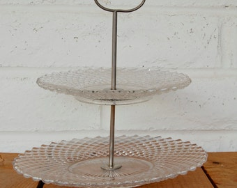 Vintage Two Tiered Serving Plate