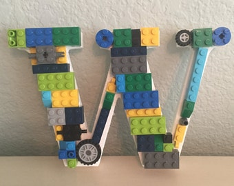 Letter W with LEGO® bricks *Free Shipping*