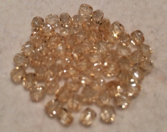 Fire Polished Beads, 3mm, Crystal Champagne Luster, 00030-14413, 50 Beads, Czech Glass
