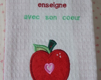 Teacher French Tea Towel