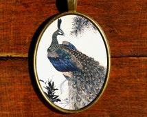 Peacock Necklace Japanese Peacock Pendant Bird Necklace Japanese Jewelry Lolita Pendant Japanese Necklace Lolita Necklace Peacock Jewelry