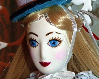 art doll Alice in Wonderland handmade