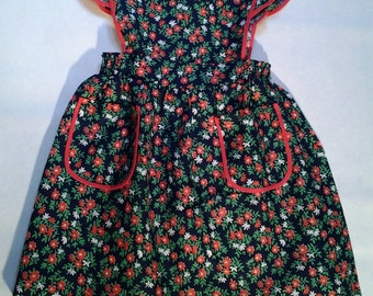 apron vintage 70s dress.     6 years