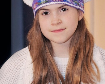 White and Purple beret