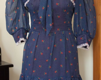 70s Kati at Laura Phillips Floral Maxi Dress Size S / M