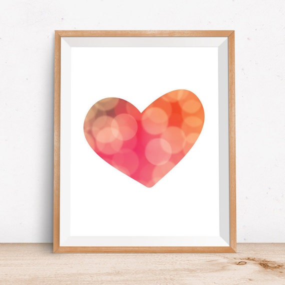 Wall Art Love Hearts : Love print wall art heart prints printable by